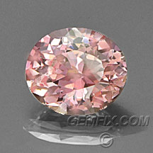 padparadscha color oval sapphire