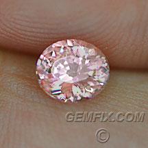 pink orange oval sapphire padparadscha color