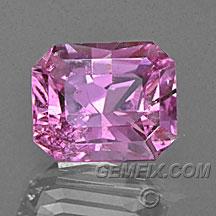 pink sapphire radiant cut