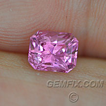 radiant cut natural pink sappphire