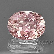 pink orange oval certified sapphire