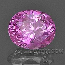 pink sapphire brilliant oval