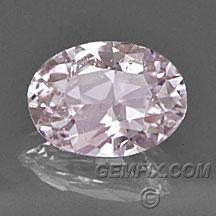 unheated light pink oval sapphire