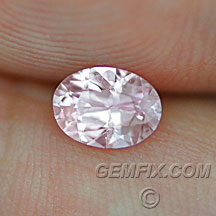 untreated oval sapphire light pink