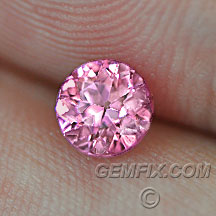 brilliant hot pink round natural sapphire