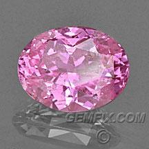 intense pink sapphire oval