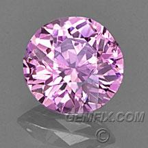 ceylon round pink sapphire