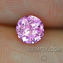 natural round pink sapphire