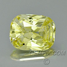 canary yellow sapphire cushion