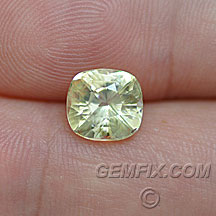 untreated cushion yellow sapphire