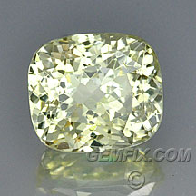 untreated yellow sapphire cushion