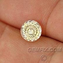 unheated yellow sapphire round