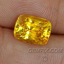 yellow sapphire cushion