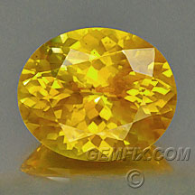large yellow orange oval sapphire