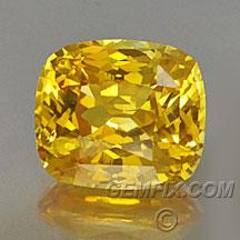 fancu yellow sapphire cushion