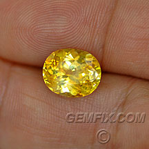 large yellow sapphire oval