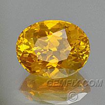 orange yellow sapphire oval