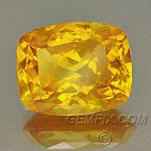 cushion orange yellow sapphire