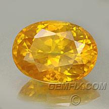 orange yellow certified sapphire