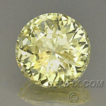 fancy yellow diamond color round sapphire