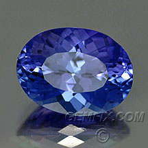 tanzanite oval portuguese cut