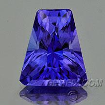 key trapezoid tanzanite