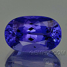 oval cushion tanzanite