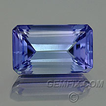 Tanzanite EC Emerald cut