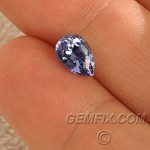 Tanzanite drop shape