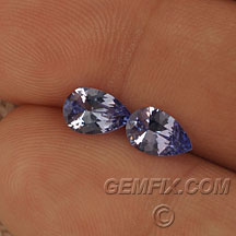 tanzanite pair of pears