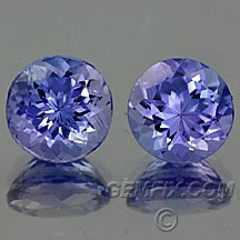 pair tanzanite rounds