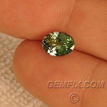 green tanzanite oval