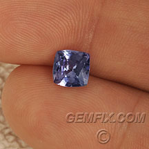 cushion tanzanite