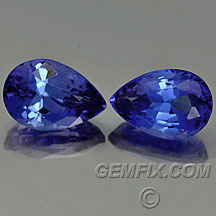 pear shape dark tanzanite