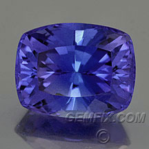 antique cushion tanzanite