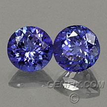 tanzanite round pair