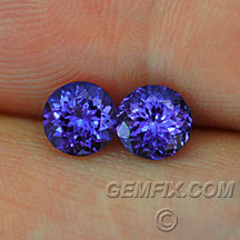 matched pair of tanzanites