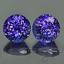 tanzanite round matched pair