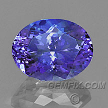 oval tanzanite blue violet
