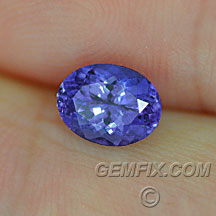 violet blue oval tanzanite