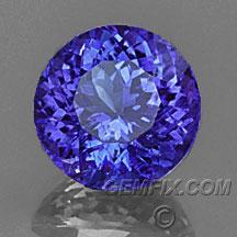 round tanzanite violet blue