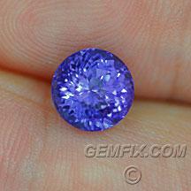 violet blue round tanzanite