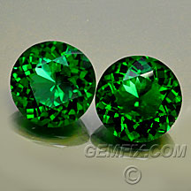 chrome green tourmaline round pair