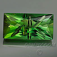 green tourmaline carving