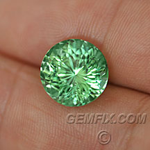green blue large round tourmaline