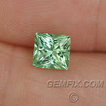 pastel green princess radiant tourmaline