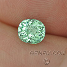 mint green cuprian tourmaline cushion