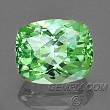 mint green cushion tourmaline