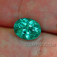 Paraiba color tourmaline oval