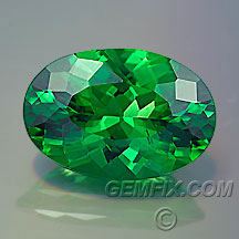 oval green tsavorite